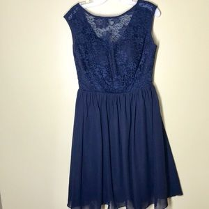 Lace and tulle formal dress